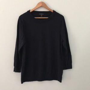 J crew Merino wool tippi sweater navy blue size xl